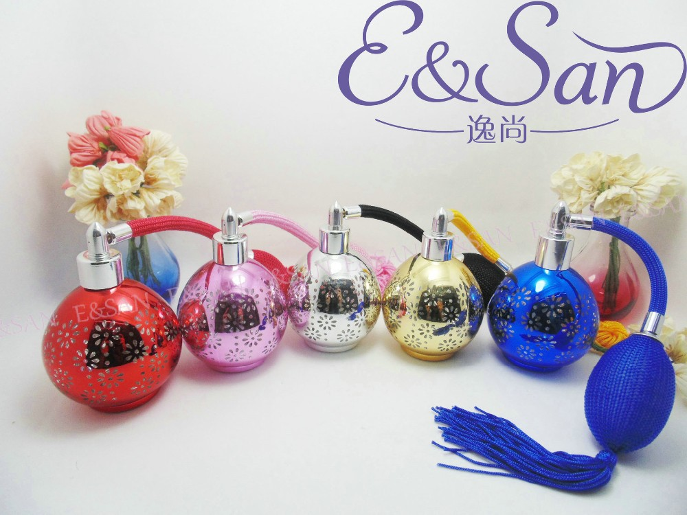 Wholesale,60ml air bag glass perfume bottle with Refillable Atomizer Spray,gasbag perfume bottle,perfume container ,gasbag(China (Mainland))