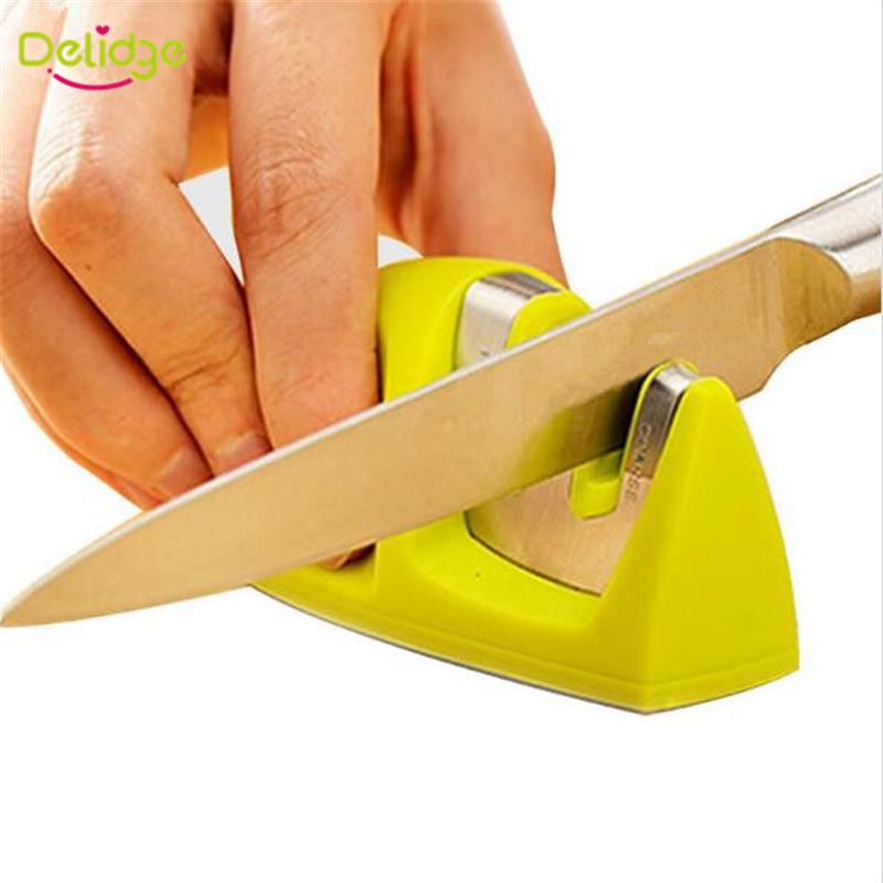 1 pcTwo Stages Kitchen Knife Sharpeners Diamond Tungsten Steel Carbide Ceramic Sharpener Sharpening Stone Knife Sharpener(China (Mainland))