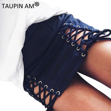 Buy TAUPIN AM Sexy Lace high waist pencil skirt Suede bodycon mini skirts womens 2017 Fashion elegant women summer skirt shorts for $19.99 in AliExpress store