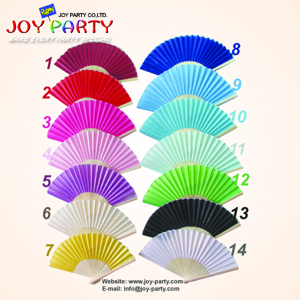 Free Shipping 160pcs/lot 21cm solid color fabric/silk hand fan wedding decoration party promotion gift favor(China (Mainland))