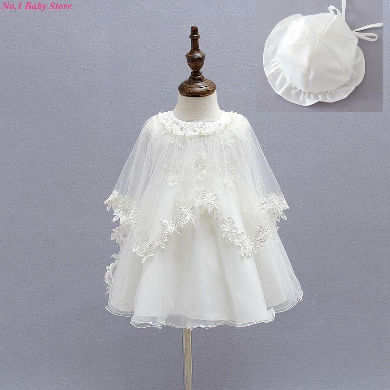 Free shipping Baby Girl Pageant Wedding Dresses 3pcs/set Princess Girls 1 Year Birthday Party Dress Newborn Christening Gowns(China (Mainland))