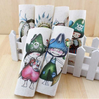 6PCS 15*15cm Hand Dyed Cotton Linen Fabric - Little Pirate Tissue Sewing Tilda DIY Patchwork Scrapbooking Quilting Tecido ZAKKA