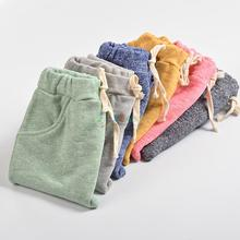 New Arrival Linen Sping Autumn Cute Baby Harem Pants Kids Boys or Girls Leggings Clothing Toddler Cotton Long Pants For Age 2-8
