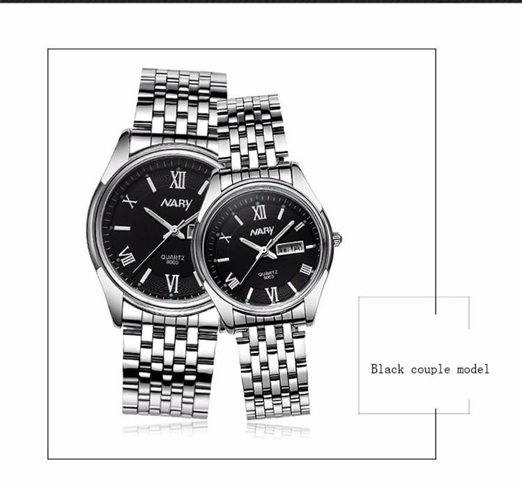 Nary Часы Мужчины Бизнес Мода Из Нержавеющей Стали Наручные Часы Водонепроницаемые Часы Кварцевые Часы Личности Случайный Relogio W0806