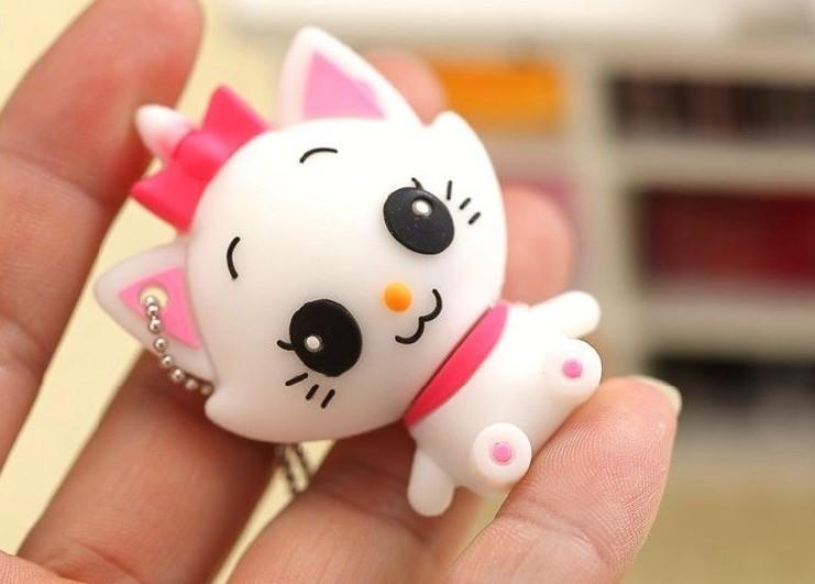 New Cartoon Lovely Cute cat model 4-32gb USB 2.0 Flash Memory Stick Drive U Disk Festival Thumb/Car/Pen Gift Free HK post(China (Mainland))