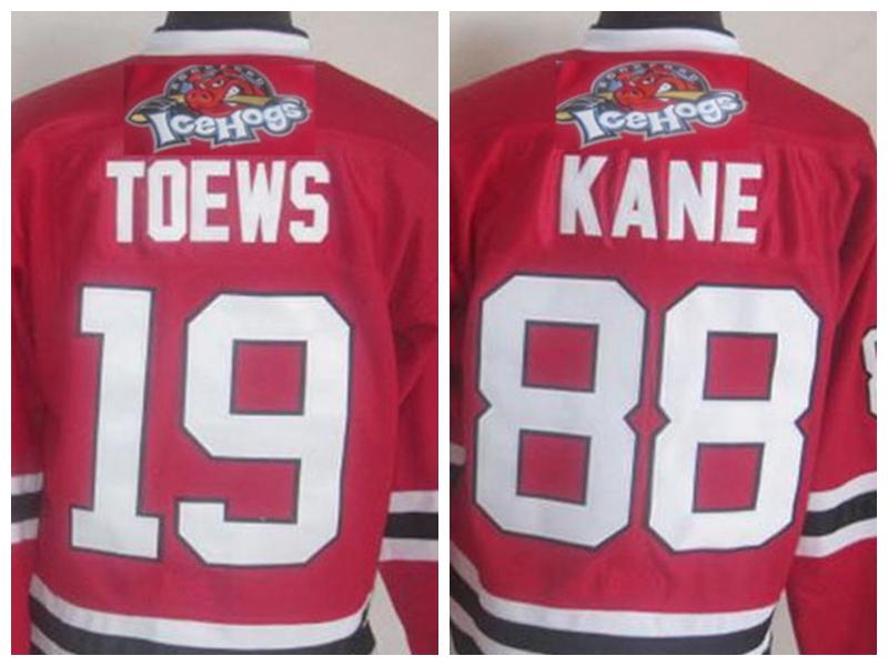Chicago ice hockey 88 Patrick Kanes Jersey Rockford Icehogs jersey 19 Jonathan Toews jersey Premier Mens ahl Ice Hockey Jerseys