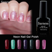 Buy Sarness Bling Neon Color Rainbow Gel Soak Polish Gel Lacquer 10ML/PCS Varnish Nail Polish Manicure UV Lamp Gel Lack for $1.49 in AliExpress store