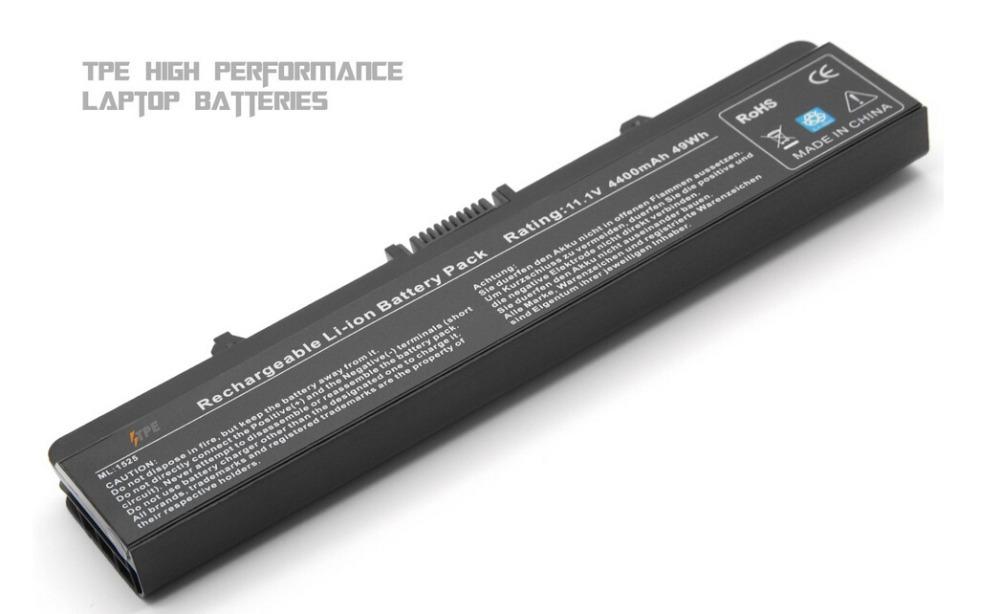 4400mAh 11.1V TPE High quality Li-lon Laptop Battery for Dell Inspiron 1525 1526 1545 PP29L PP41L Series, Fits P/N X284G GW240(China (Mainland))