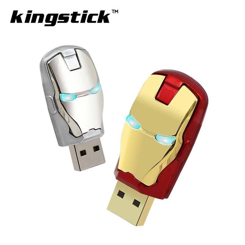 Fashion Avengers Iron Man pendrive USB Flash Drive 64GB 32GB 16GB 8GB 4GB Pen Drive Pendrive Flash Card Memory USB2.0 REAL(China (Mainland))