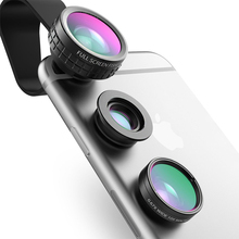 Buy AUKEY Fish eye Lens 3in 1 Clip-on Cell Phone Camera 180 Degree Fisheye Lens+Wide Angle+Macro Lens iPhone 7Plus Xiaomi & for $11.06 in AliExpress store