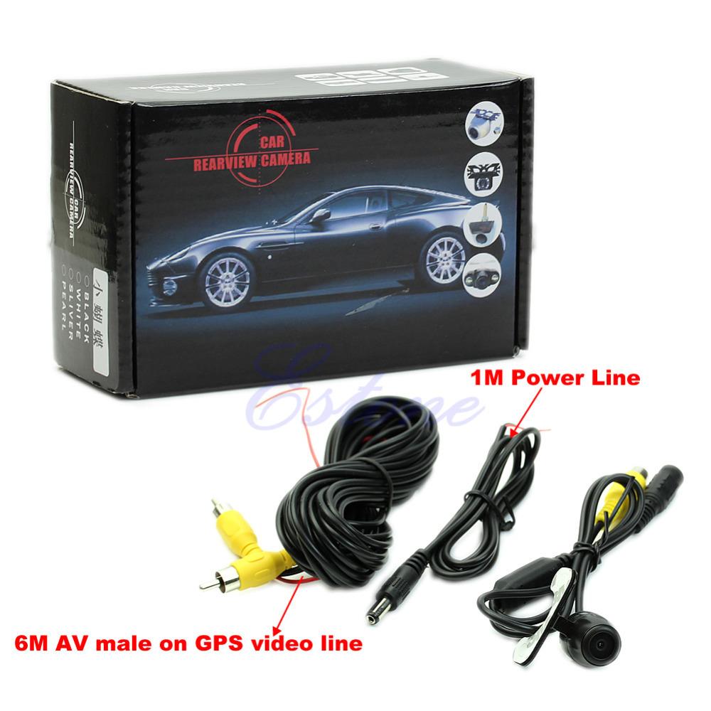 W110New Hot 12V 170degree Mini Color CCD Reverse Backup Car Rear Front View Camera Night Vision