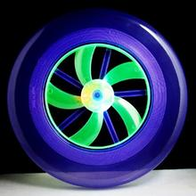 20pcs/LOT Flying Disk Arrow Colorful Spin LED Light Outdoor Toy Flying Saucer Disc Frisbee UFO Kid Toy YH373(China (Mainland))