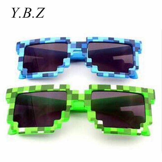 Creeper Minecraft Солнцезащитные Очки 6-15 Y Детские Солнцезащитные Очки Очки Новинка Мозаика Очки Мода Мужчины Женщины Мальчики Девочки Пикселей Eyewares