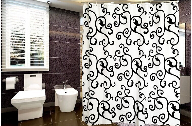 Shower curtain waterproof 240x200cm bathroom window curtains modern