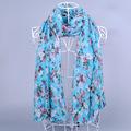 DHL Shipping 10Pcs lot Fashion Polka Floral Viscose Shawl Scarf 180 90Cm Brand Printed Fulares Mujer