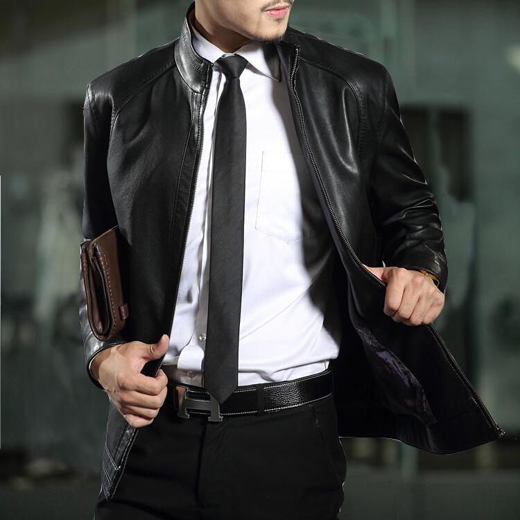 Short collar leather jacket – Modern fashion jacket photo blog