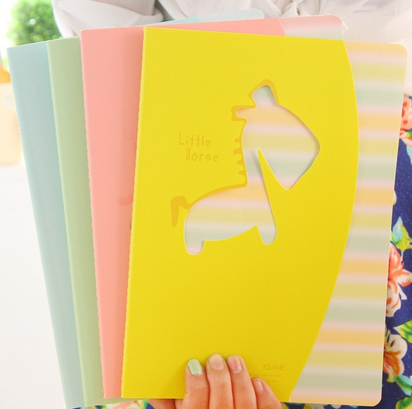 255*185mm/Creative Hollow Pony series  notebook/lovely plan book/diary wholesale<br><br>Aliexpress