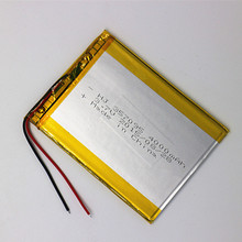 1PCS/Lot 3.7V 4000mah (polymer lithium ion battery) Li-ion battery for tablet pc 7 inch MP3 MP4 [357095] Free Shipping(China (Mainland))