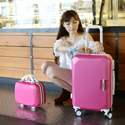 "20 inch""24 inch"" inches Universal wheels trolley luggage sets, female travel bag, hard case box, candy color Suitcase, high-grade lockbox"""