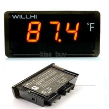 AC 110v 220v Digital LCD Thermometer -22~+572 Fahrenheit Degrees Fridge Freezer water Temperature Cabinet aquarium Fish tank(China (Mainland))