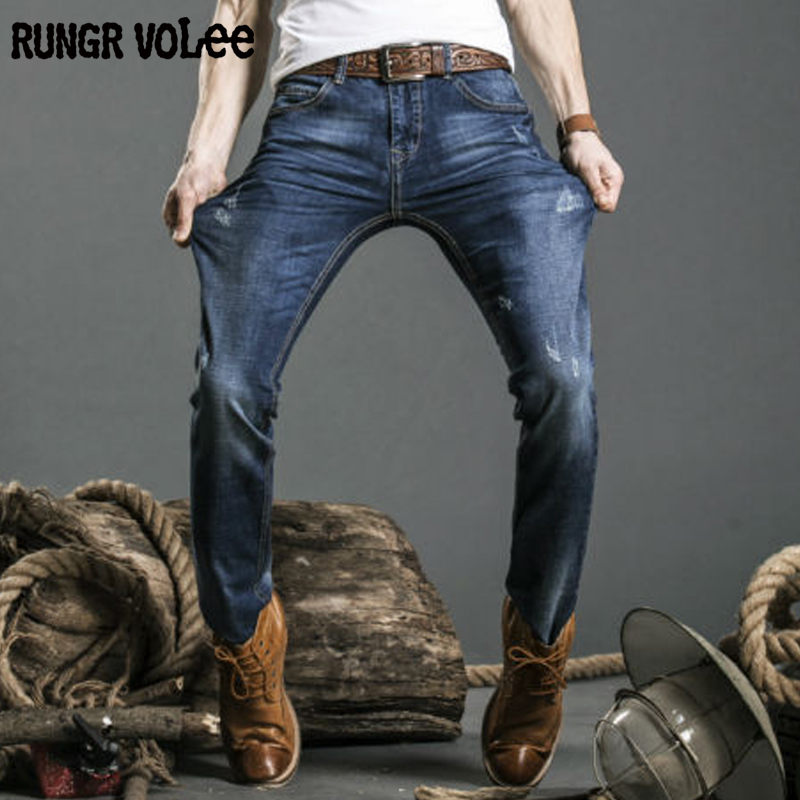 16 17 rungrvo lee Hot sale Men Jeans Male Casual Straight Denim Men's Jeans Slim denim overall Wholesale Brand Jeans Biker jeans(China (Mainland))
