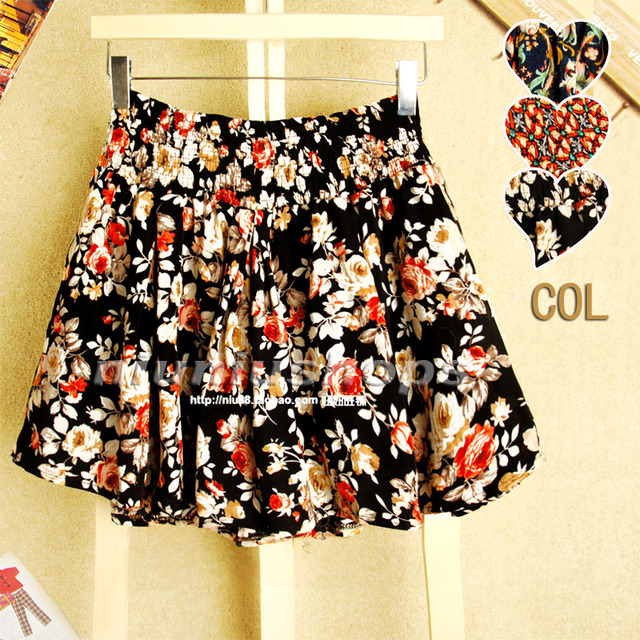 2013 loose elastic waist rose all-match short skorts trousers bust skirt pants female
