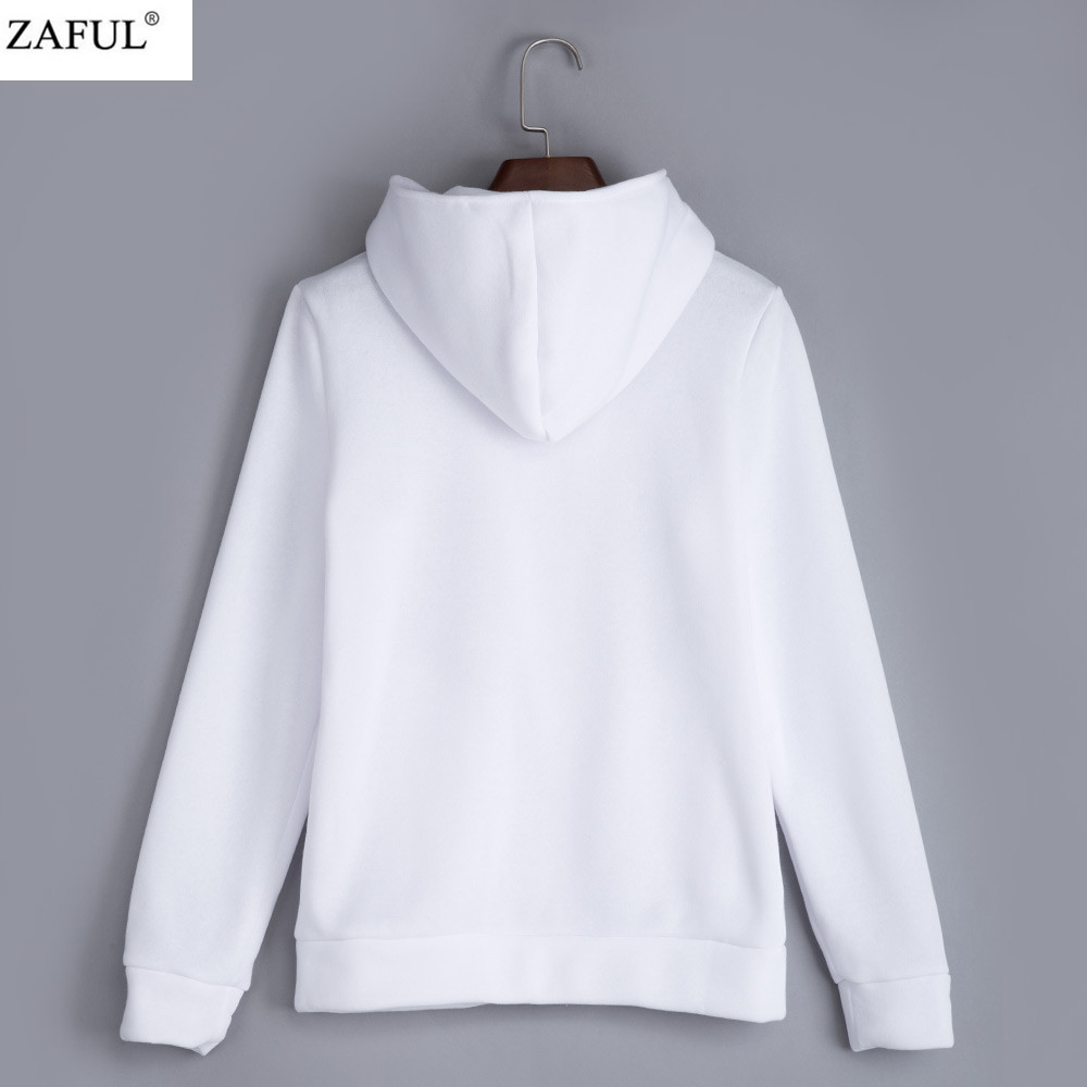 ZAFUL 4 color 2016 New Autumn&winter Women Cotton Hoodies V-Neck Long Sleeve Hoodies With Cat Warm cardigans Female Sweatshirts (5)