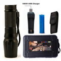 6000lumen Flashlight LED CREE XM L2 T6 Torch Zoomable Lamp Aluminum Tactical Flashlight Light 18650 Battery