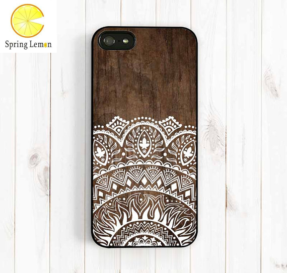 Imitation Wood Lace Ethnic Patterns Protective Shell Cell Phone Hard Case Cover iPhone 4/4s/5/5s/5c/6/6plus/7/7plus - ShenZhen Qing Ning Co. Ltd store