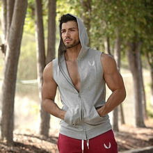 Mens Bodybuilding Hoodies Gym Brand-clothing Workout Shirts Hooded Sport Suits Tracksuit Men Chandal Hombre Gorilla wear Animal