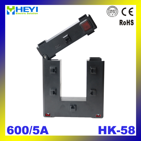 one button clamp on current transformer HK-58 600/5A Class 0.5/1.0 split core current transformer low voltage ct<br><br>Aliexpress