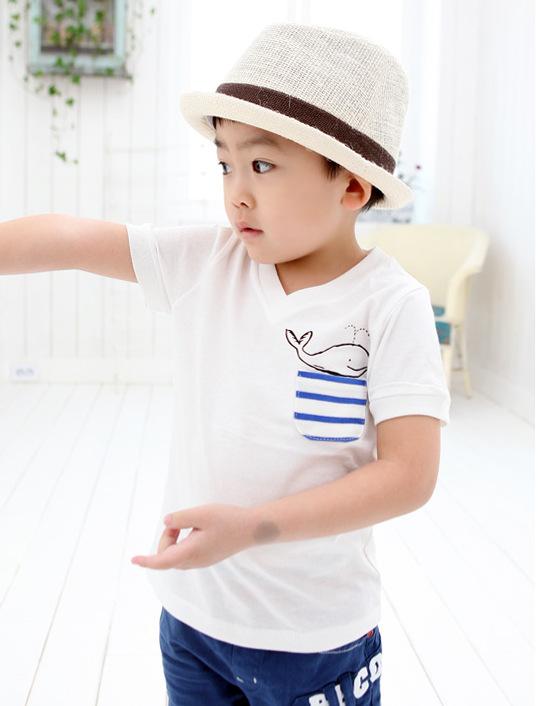 Free Shipping Children T Shirt Clothes Boys Girls Summer V--neck T Shirts Cotton Children Short Sleeve Shirts Top