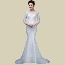 2015 New Fashion Women Lace Wedding Dress Plus Size Mermaid Hot Sale Wedding Dresses Cheap vestido de noiva Custom Made WD37(China (Mainland))