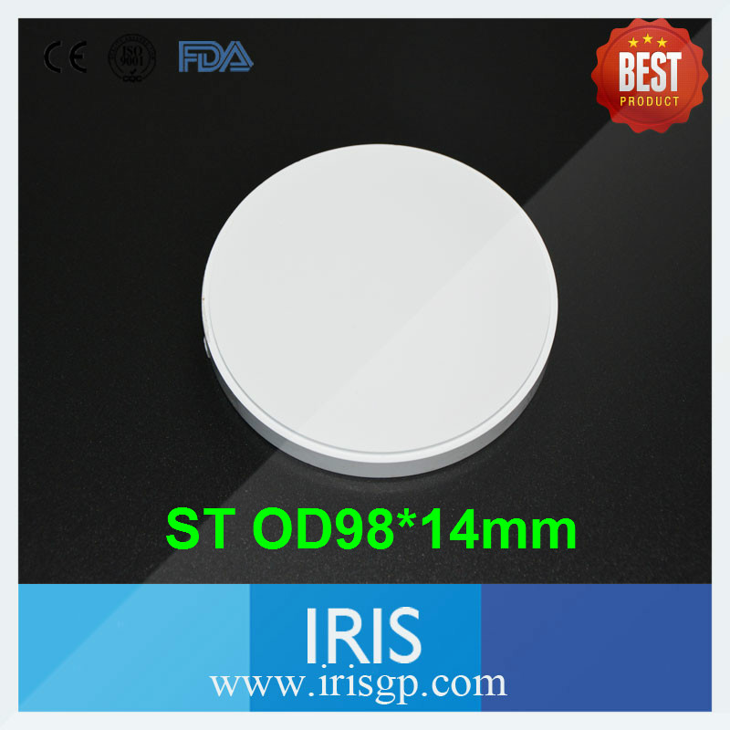 [IRIS ST W14] 4 PCS of Wieland System ST OD98*14mm Dental CAD/CAM Zirconia Ceramic Blocks for Making Crowns and Ceremic Teeth