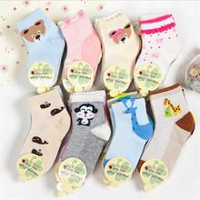 2016 new dsign full season can wear cotton children short socks bear strip rainbow cars rabbits heart patterns cute baby socks(China (Mainland))