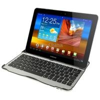 Ultra Slim Mobile Bluetooth 3.0 Keyboard Aluminum Case for Samsung Galaxy Tab 10.1 / P7510 / P7500(China (Mainland))