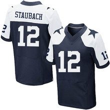 Men's #12 Roger Staubach Elite Navy Blue Throwback Alternate Football Jersey 100% stitched(China (Mainland))