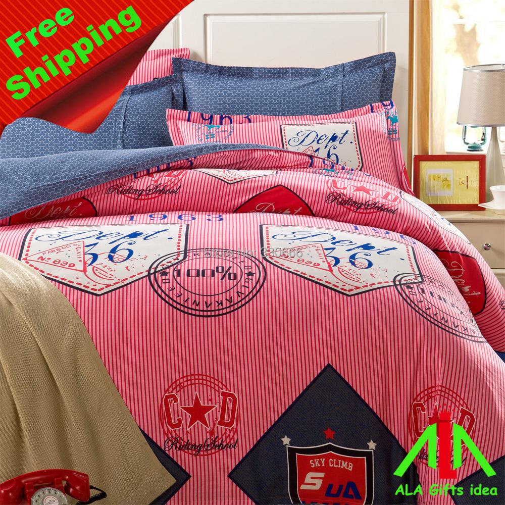 100% cotton home textile bedding set, duvet cover, fillet corner sheet - ALA Gifts Idea store