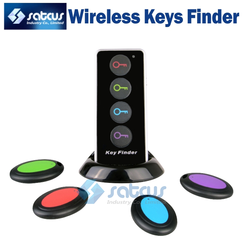 Smart Remote Wireless Keys Finder Anti Lost Alarm System with Led Flashlight 1 RF Transmitter and 4 Receivers KF104(China (Mainland))