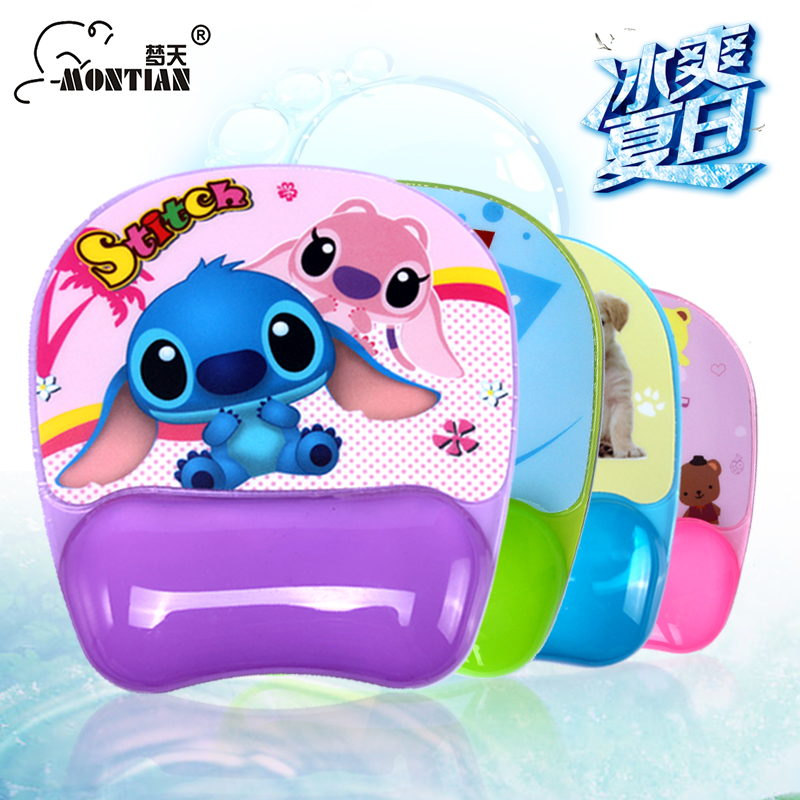grade PVC mouse pad Wrist Pillow big lovely silicone crystal wrist wrist pad support mouse pad(China (Mainland))