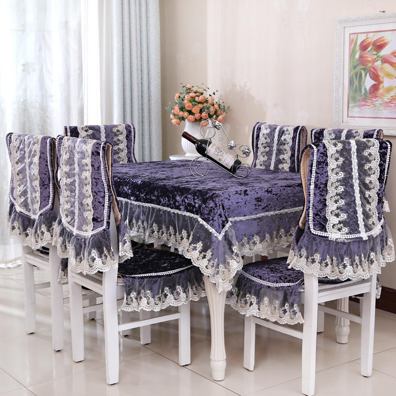 free shipping fabric wedding table cloth dining table