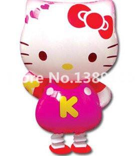 Hello Kitty Balloon Walking KT Cat Air Balloons Cartoon Animal Pet baloon Wedding birthday party decoration Kids Inflatable Toys(China (Mainland))