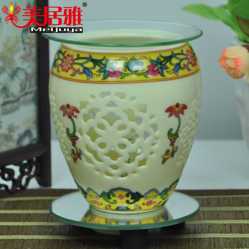 Factory direct Mercure Accor fragrance lamp plugged antique ceramic night light holiday gift ideas wholesale T0271(China (Mainland))