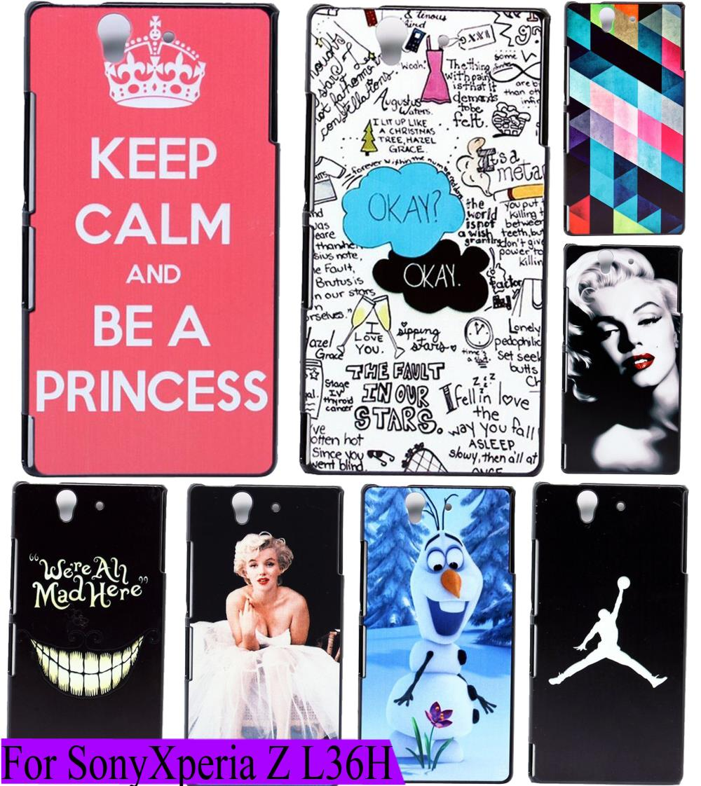 New Charming Keep Calm Pink Custom Painted Protective Phone Cover Case For Sony for Xperia Z L36H L36i L36 C6603 C6602(China (Mainland))