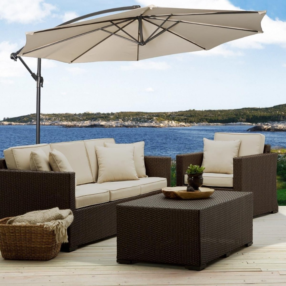 10 39 hanging umbrella patio sun shade offset outdoor market in patio umbrellas bases from Uk home furniture market