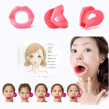 silicone rubber face slimmer massage muscle/ Exerciser, Lip Trainer Oral Exerciser , Exercise Mouthpiece Face Expression Care(China (Mainland))