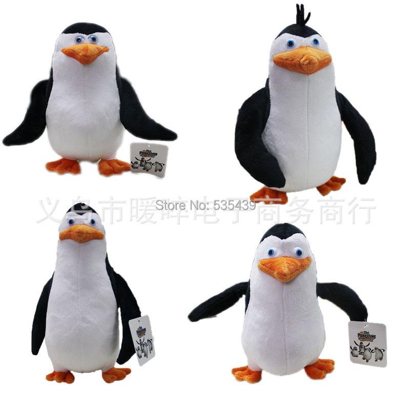 hot ! NEW 4 PCS/set 20-24cm Penguins of Madagascar plush toys stuffed Christmas gift doll