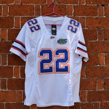 MASMIG Emmitt Smith 22 Florida E.Smith Football Jersey White M-3XL(China (Mainland))
