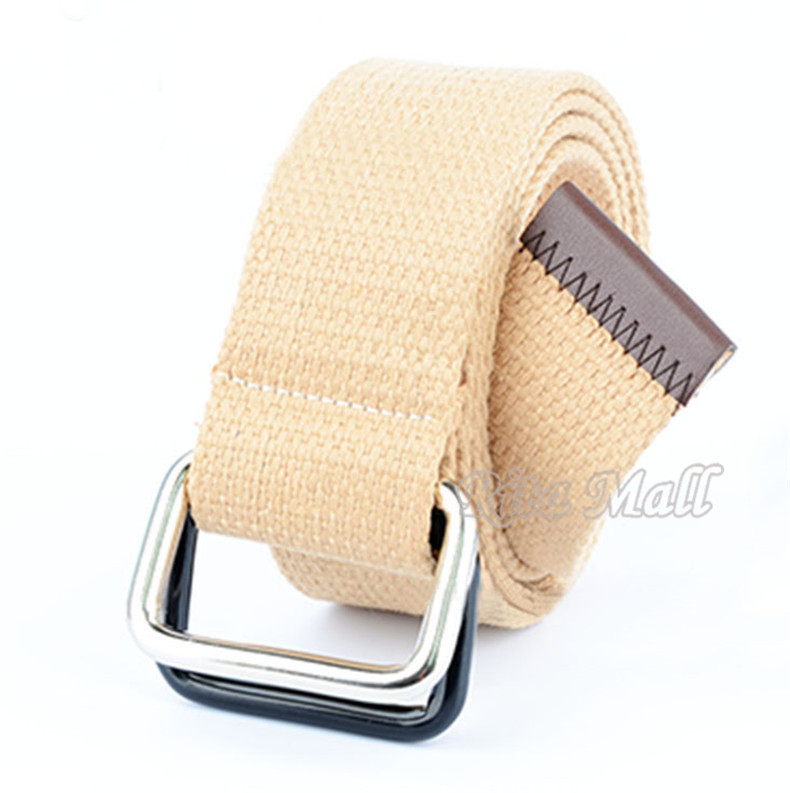 Founder Bicyclic Buckle Metal Head Canvas Belt 2015 New Fashion Jeans Belt Strap Casual Men And Women Belt Free Shipping#PD015(China (Mainland))