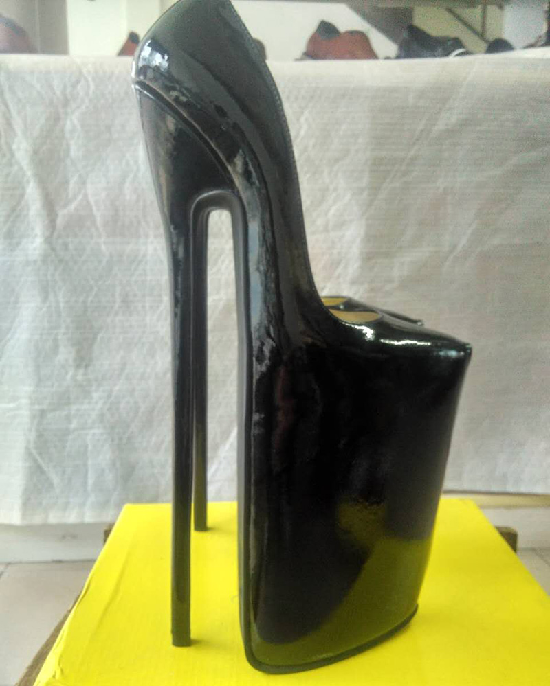 buy new design full grain leather pump extreme high heel 30cm high heel 15cm. Black Bedroom Furniture Sets. Home Design Ideas